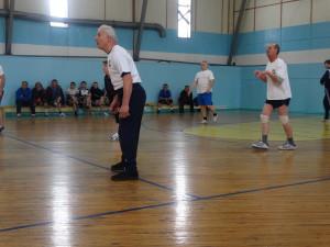 Магистральнинская старшая на приеме мяча